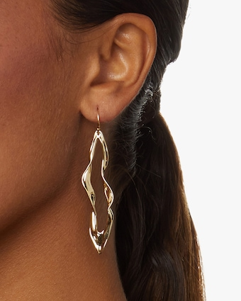 Crumpled Metal Wire Earrings