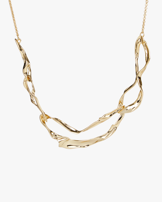 Crumpled Metal Link Necklace