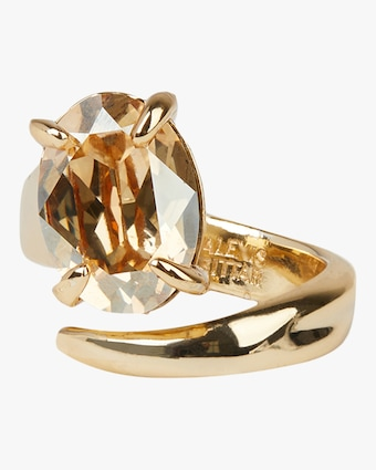 Crystal Capped Wrap Ring