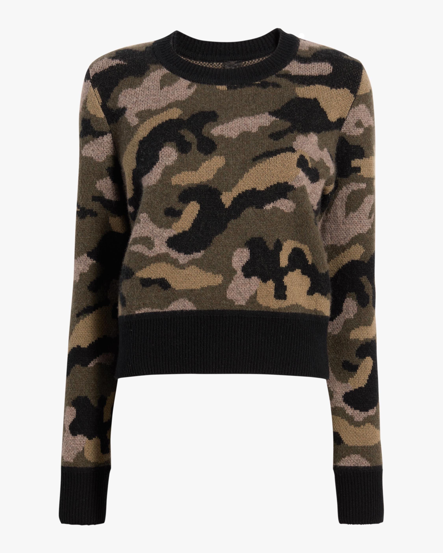 Naadam Camo Crewneck Sweater 0