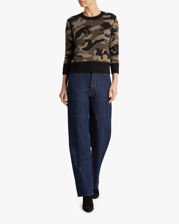Naadam Camo Crewneck Sweater 1