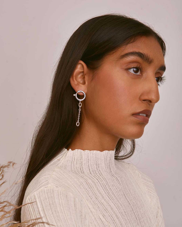 Lady Grey Clasp Earrings 1