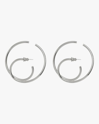 Lady Grey Thru Hoop Earrings 1