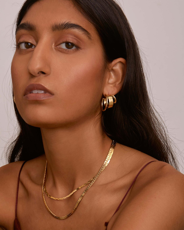 Triad Hoop Earrings