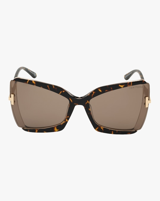 Tom Ford Gia Oversized Sunglasses 0