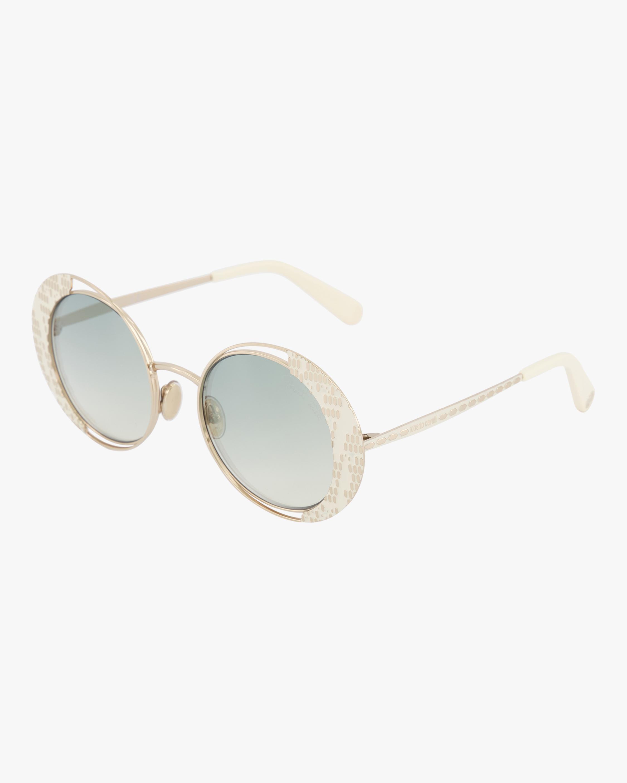 Roberto Cavalli White Round Sunglasses 1