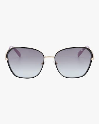 Emilio Pucci Goldtone & Smoke Geometric Embellished Sunglasses 1
