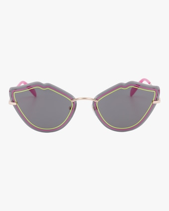 Emilio Pucci Goldtone & Smoke Lip Sunglasses 1