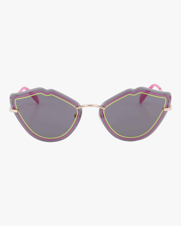 Emilio Pucci Goldtone & Smoke Lip Sunglasses 0