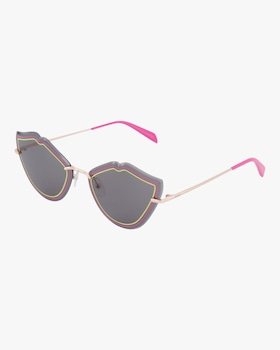 Goldtone & Smoke Lip Sunglasses