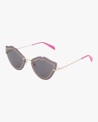 Emilio Pucci Goldtone & Smoke Lip Sunglasses 2