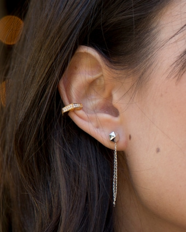 Via Saviene Single Pavé Ear Cuff 2