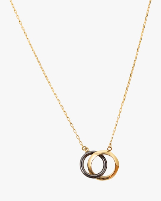 Via Saviene Circle Link Pendant Necklace 0