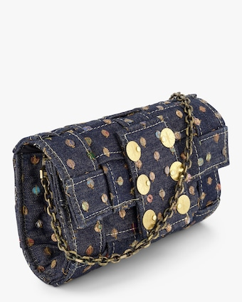 Blue Jeans Pixel Orbit Clutch