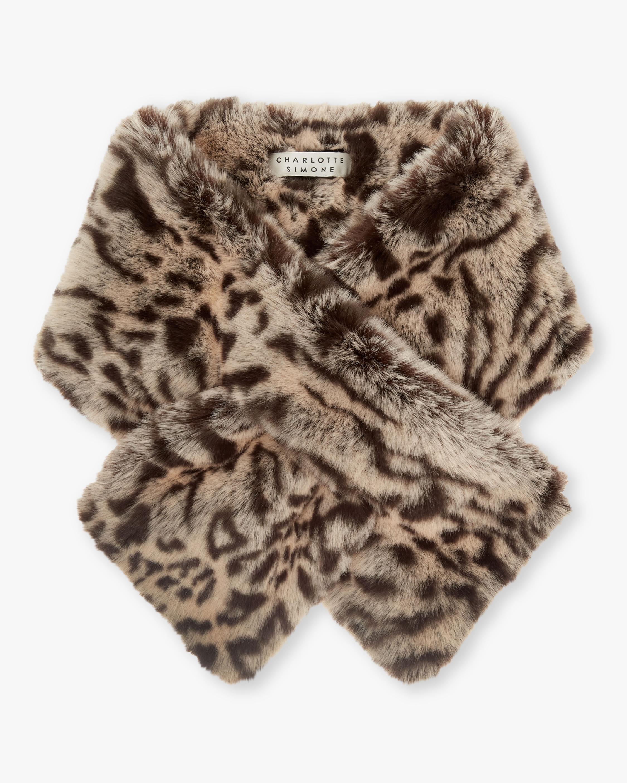 Clara Leaopard Faux Fur Scarf
