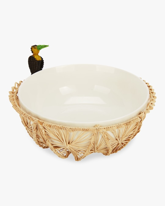 Mercedes Salazar Home Small Toucan Bread Basket 0