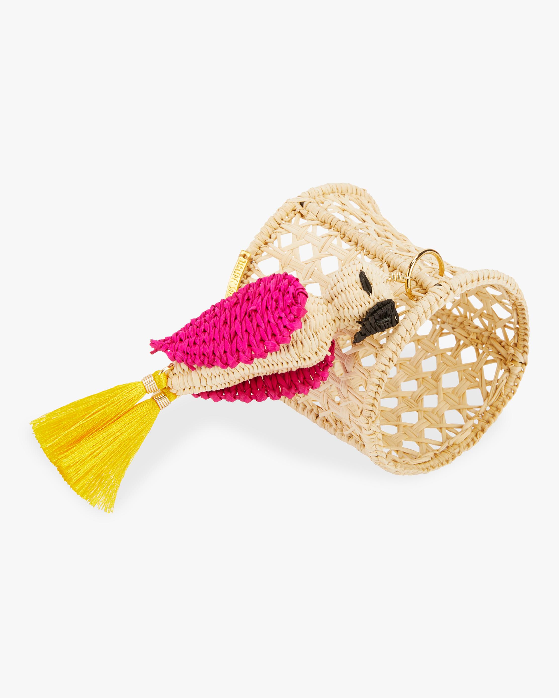 Mercedes Salazar Home Set-of-Two Rose Cockatoo Napkin Ring 2