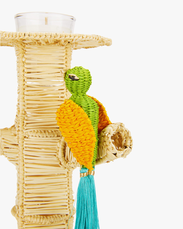 Mercedes Salazar Home Set-of-Two Green Parrots Candlesticks 1