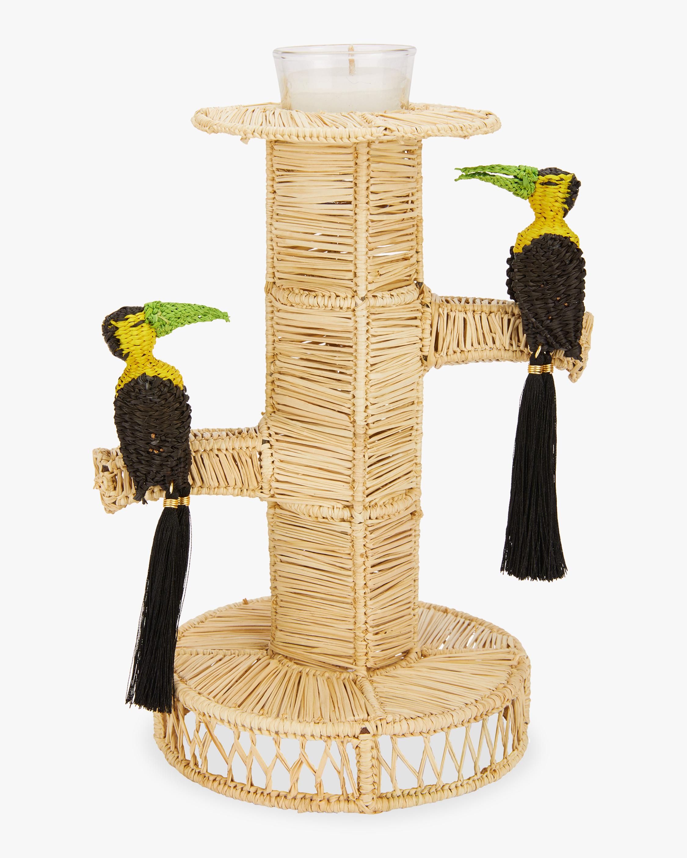 Mercedes Salazar Home Set-of-Two Black Toucans Candlesticks 0