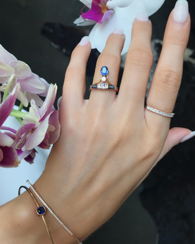 Yi Collection Sapphire Eternity Bangle 1