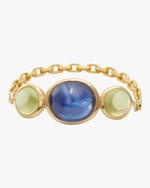 Yi Collection Sapphire & Peridot Eos Chain Ring 0