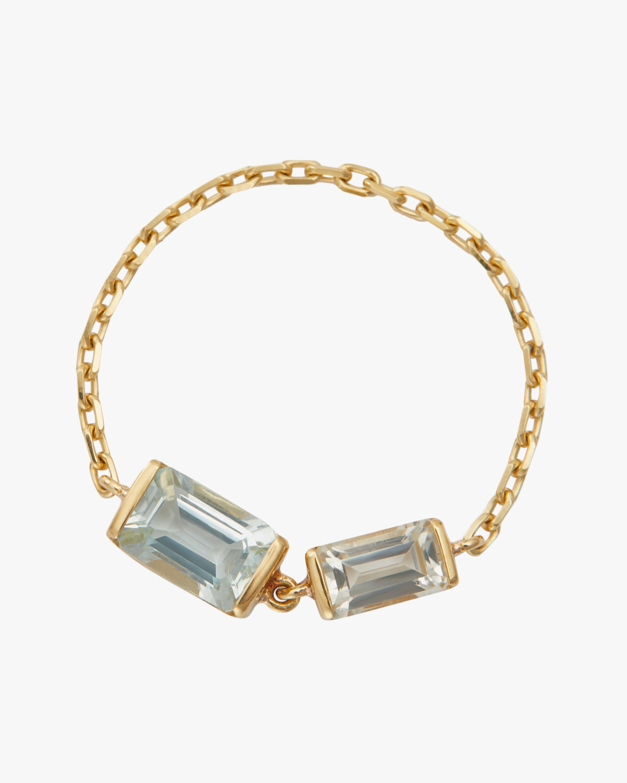 Yi Collection Topaz & Aquamarine Chain Ring 1