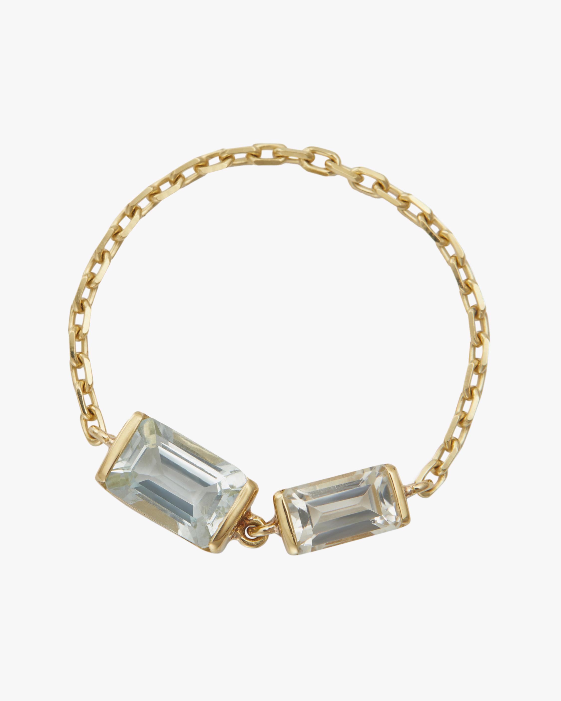 Yi Collection Topaz & Aquamarine Chain Ring 0