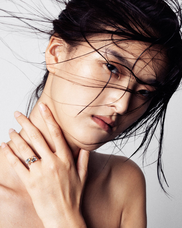 Yi Collection Topaz & Aquamarine Chain Ring 2