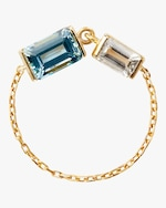Yi Collection Topaz & Aquamarine Chain Ring 0