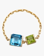 Yi Collection Topaz & Peridot Chain Ring 0