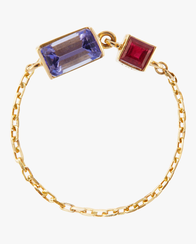Yi Collection Tanzanite & Ruby Chain Ring 0