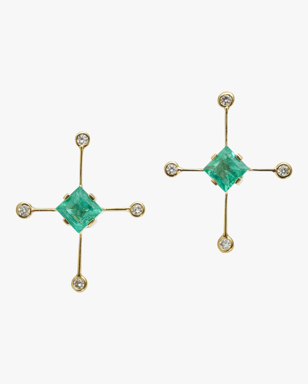 Yi Collection Emerald & Diamond Supernova Earrings 2