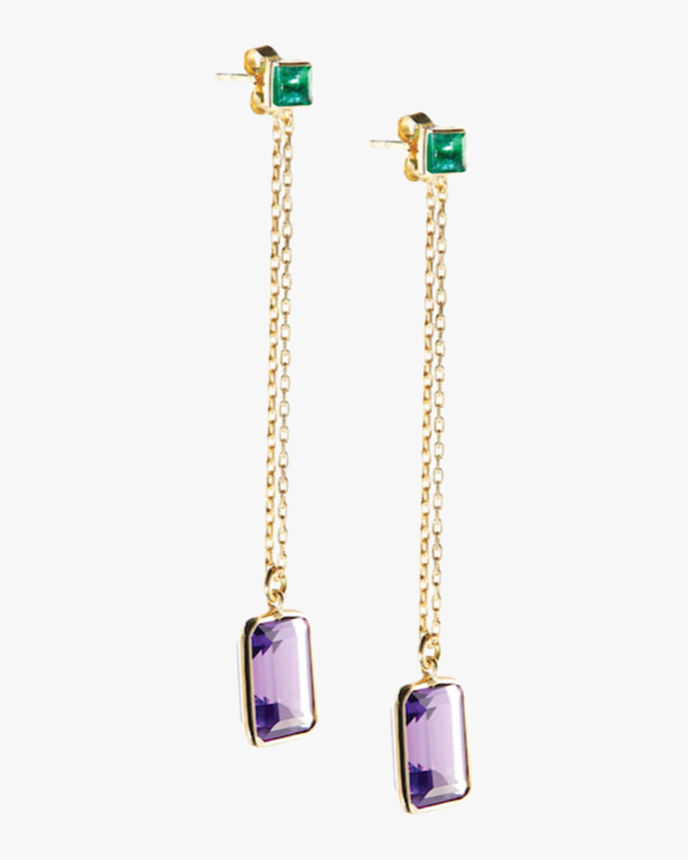 Emerald & Amethyst Earrings