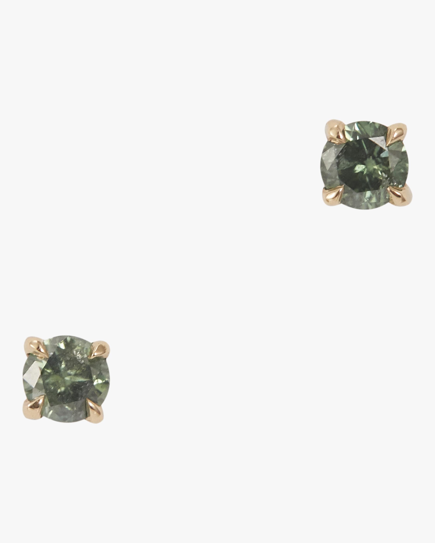 Green Diamond Studs