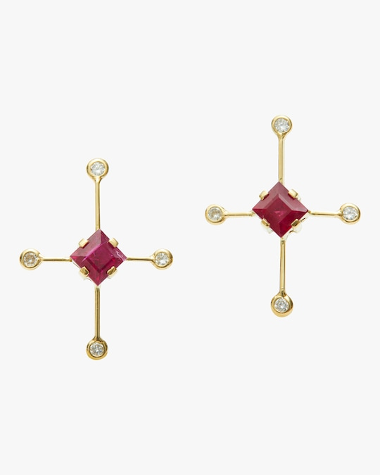 Yi Collection Ruby & Diamond Supernova Earrings 0