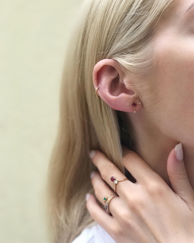 Ruby & Diamond Supernova Earrings