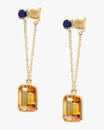 Yi Collection Sapphire & Citrine Earrings 0