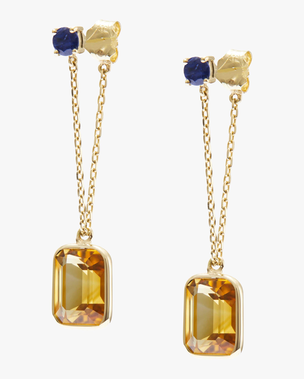 Sapphire & Citrine Earrings