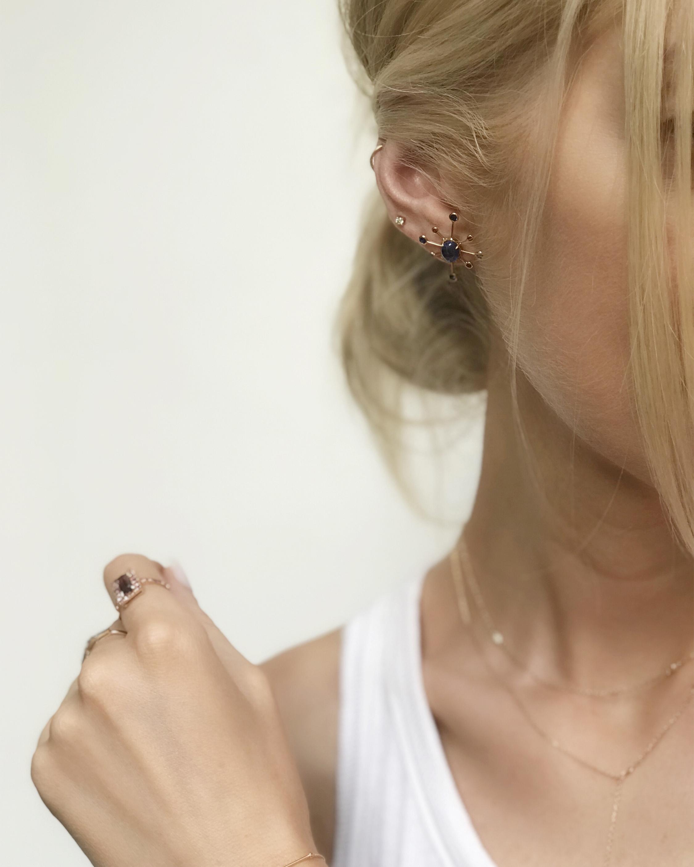 Yi Collection Sapphire & Rubies Supernova Earring 1