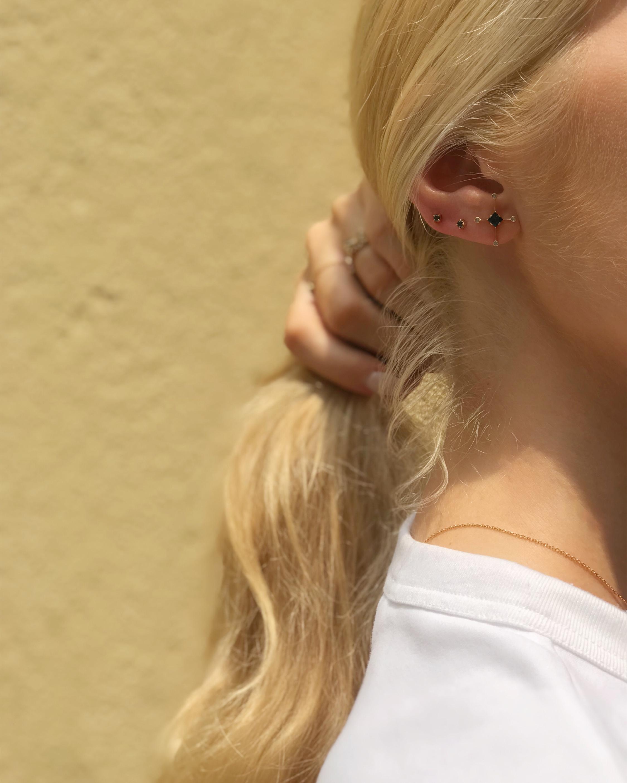Yi Collection Sapphire & White Diamond Supernova Earrings 1