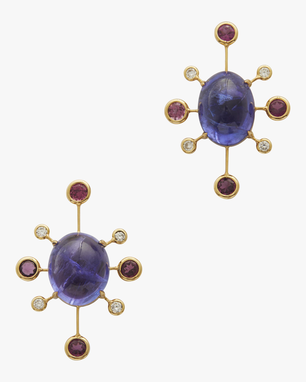 Yi Collection Tanzanite, Tourmaline & Diamond Supernova Earrings 1