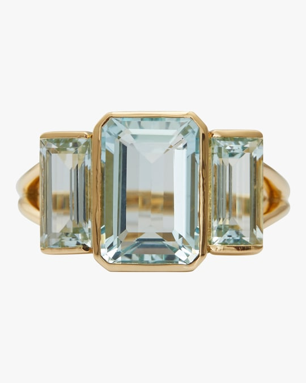 Yi Collection Aquamarine Tonal Deco Ring 0
