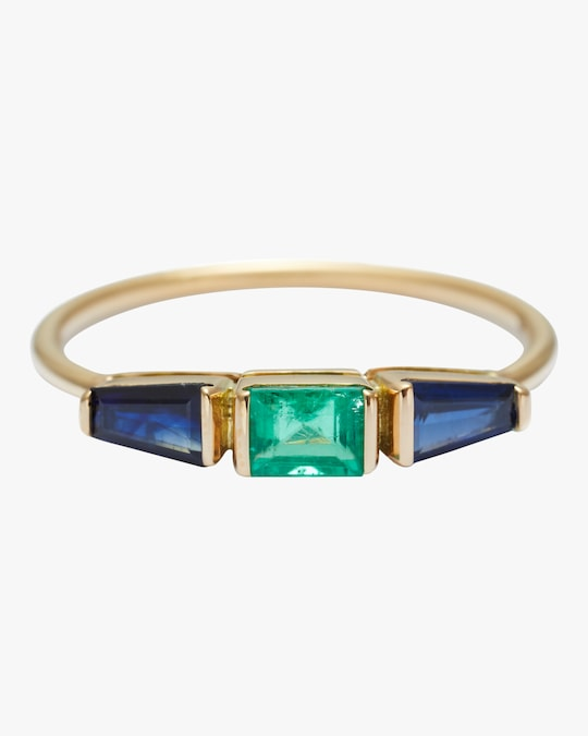Yi Collection Emerald & Blue Sapphire Triplet Ring 0