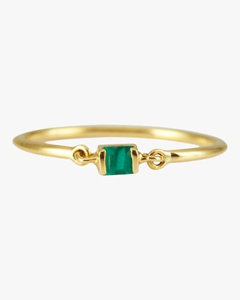 Yi Collection Emerald Petite Circle Ring 2