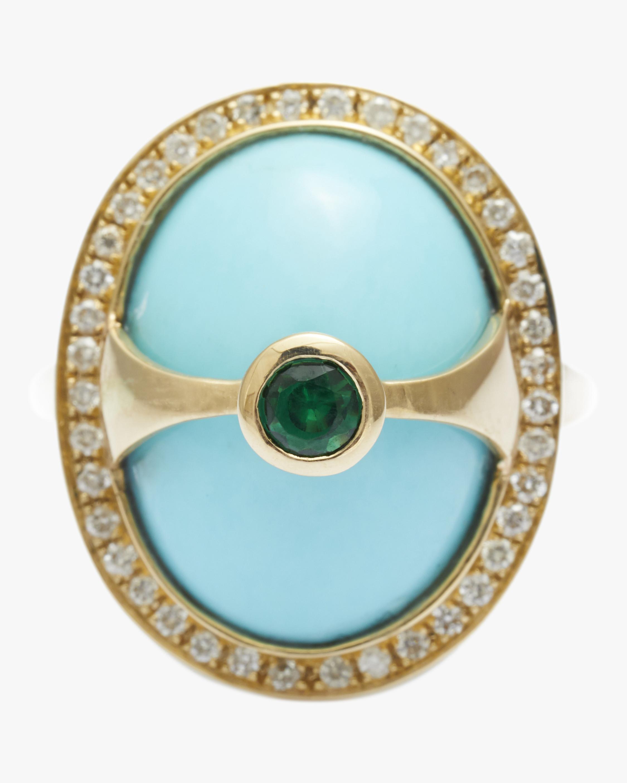 Yi Collection Turquoise & Diamond Eos Ring 1