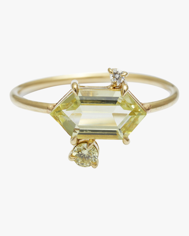 Yi Collection Yellow Aquamarine & Diamond Puzzle Ring 1