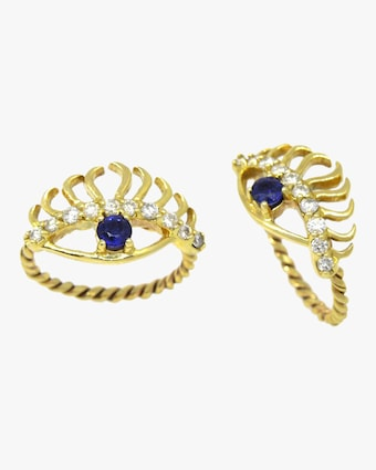 Evil Eye Lashes Ring