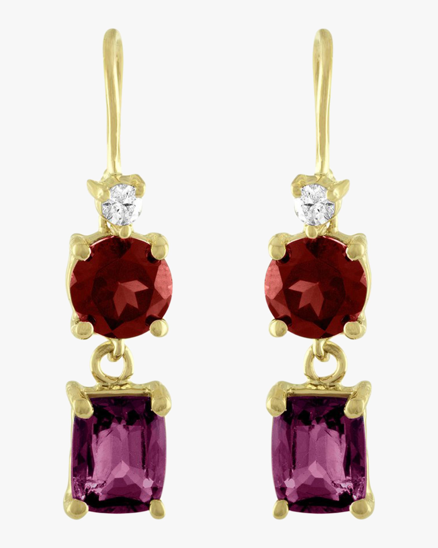 Garnet Wire Drop Earrings