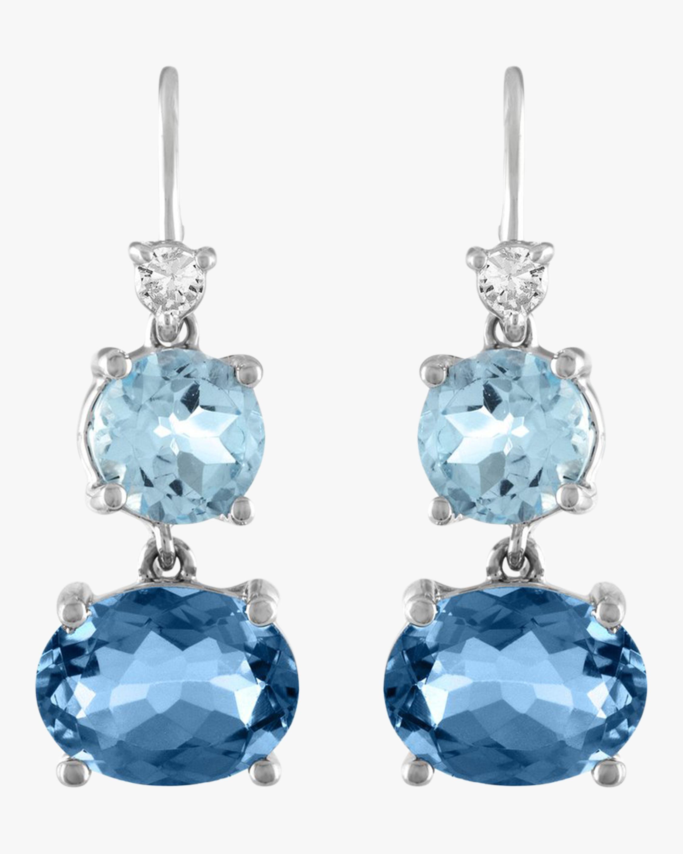 London Blue Topaz Wire Drop Earrings