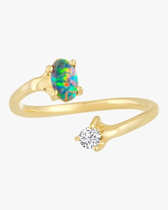 Opal Open Pinky Ring